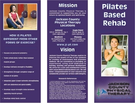Benchmark Physical Therapy >> Brochures – Jackson County Physical Therapy