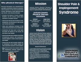 Brochures Jackson County Physical Therapy