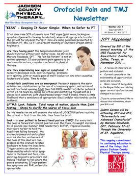 Winter 2012 TMJ Newsletter