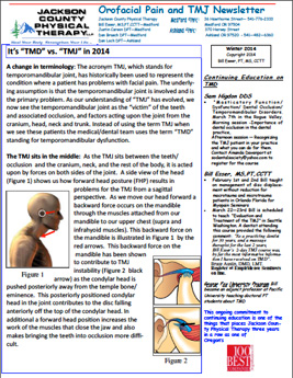Winter 2014 TMJ Newsletter